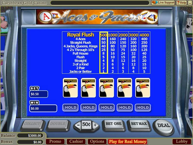 golden online casino caribbean stud