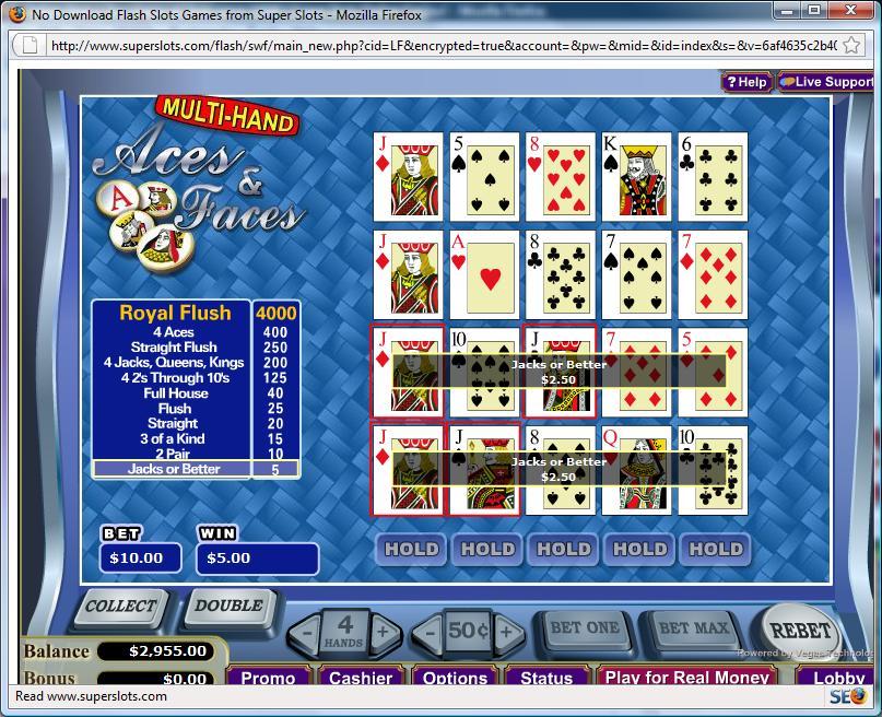 online casino video poker slots spiele